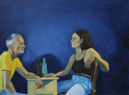 The Confession, oil on canvas, 30 inches x 40 inches