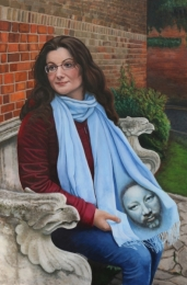 Veronica, oil on board, 36 inches x 24 inches
