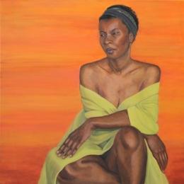 Morimda, oil on canvas, 30 inches x 30 inches