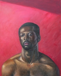 Rich and pink, oil on canvas, 30 inches x 24 inches