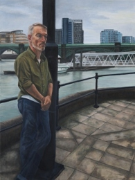 Dave by the Thames, oil on linen, 40 inches x 30 inches