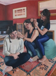 Sisters, oil on linen, 40 inches x 30 inches