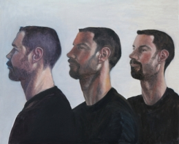 Steve 3 Ways, oil on canvas, 20 inches by 24 inches